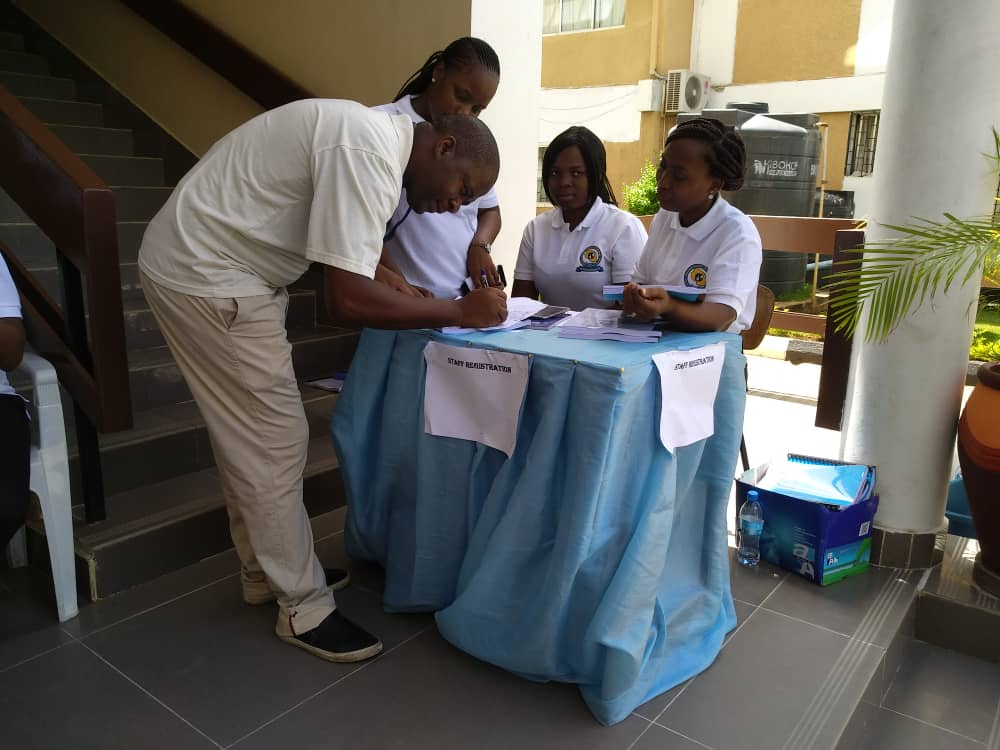 Registration Desk on 29th Annual General Meeting of the Convocation continues at the ODL Groundfloor
