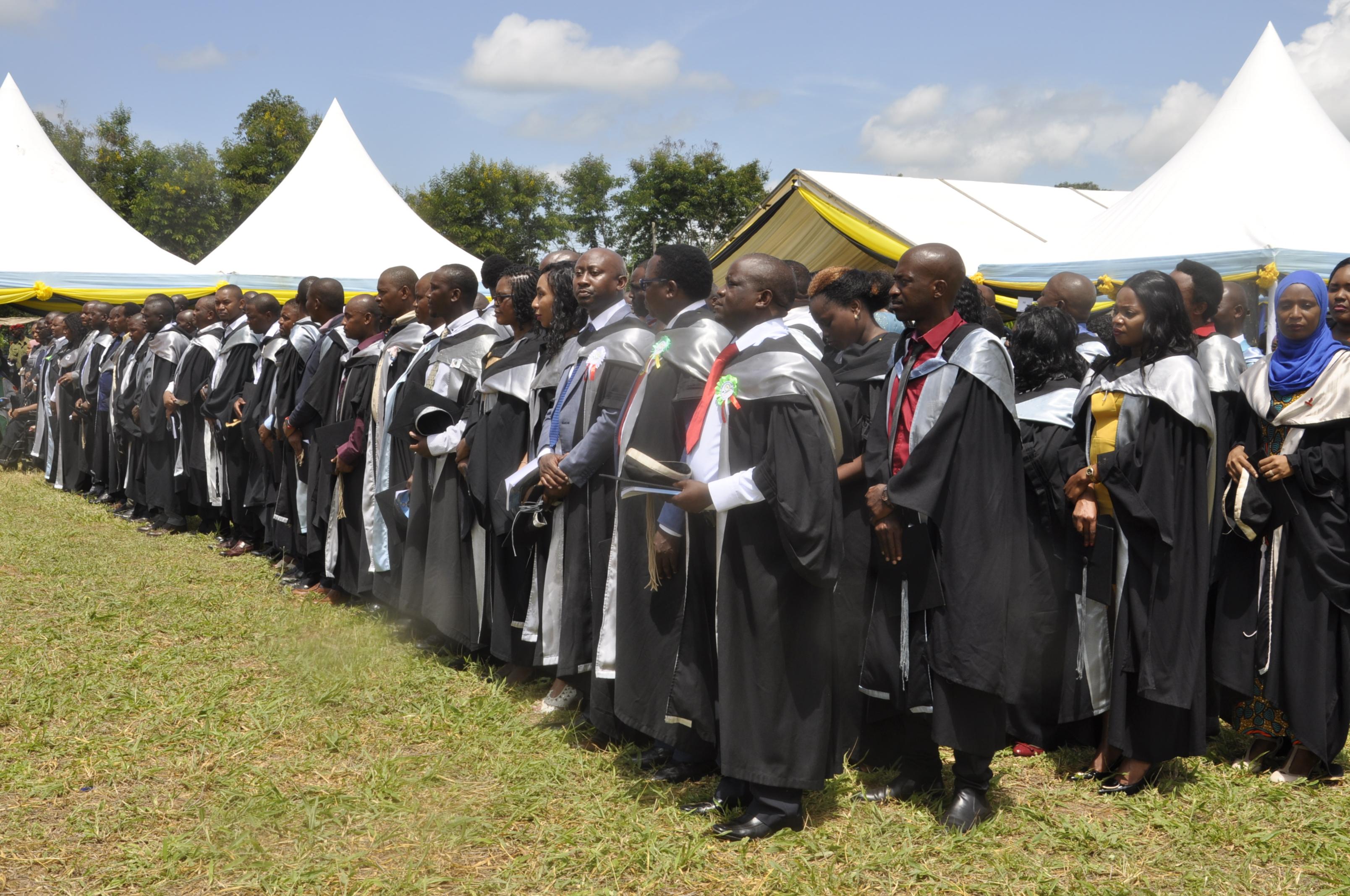 Undergraduate studentsduring the 37th graduation ceremony of the Open University of Tanzania held on 28th September 2019 at Bungo, Kibaha