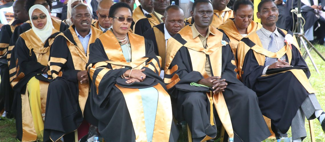 phd-graduates-listening-to-various-speeches-during-the-37th-graduation-ceremonyof-the-open-university-of-tanzania-held-on-28th-september-2019-at-bungo-kibaha
