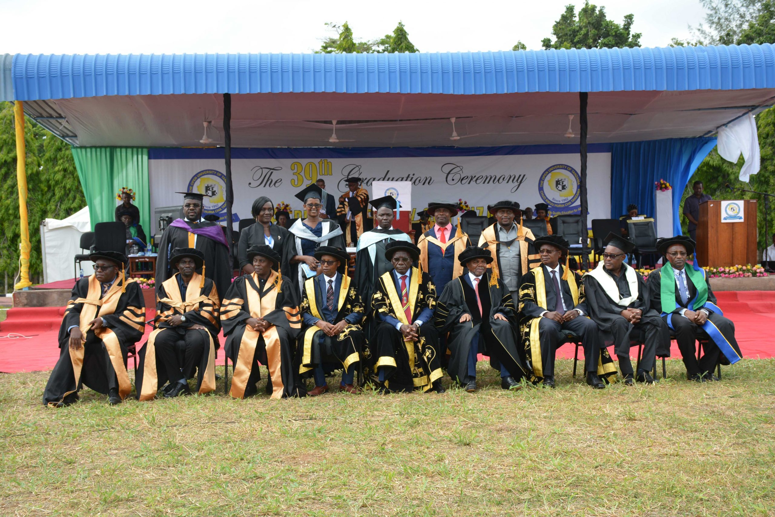 39th Graduation ceremonies of the Open University of Tanzania held at Bungo, Kibaha – Pwani on December 17, 2020 where the guest of Honor, the seventh President of Zanzibar Dr. Ali Mohamed Shein witnessed 2996 students graduate.